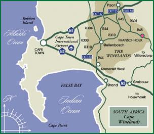 Accommodation Franschhoek   Directions   Guest House Stellenbosch on